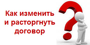 Уведомление о расторжении договора — investim.info